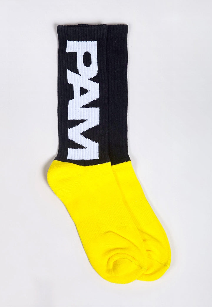Perks & Mini | P.A.M B.T.C Socks - black/yellow | Good As Gold, NZ