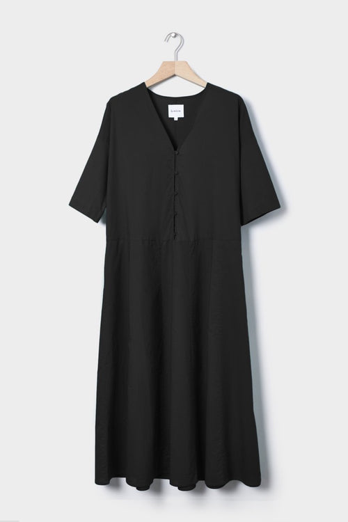 Kowtow Long Reflection Dress - black — Good as Gold