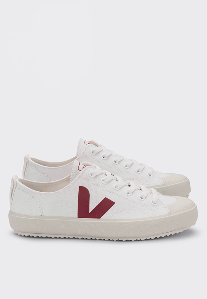 Veja | Nova Canvas - white/marsala | Good As Gold, NZ