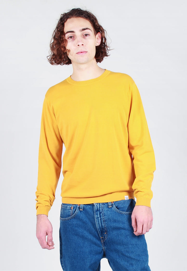 Norse Projects Sigfred Dry Cotton Knit Sweater - sunrise yellow - Good As Gold
