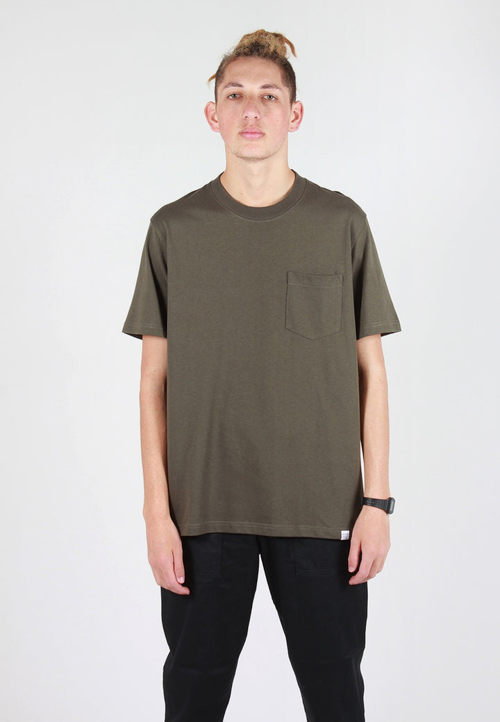 Norse Projects Johannes Pocket T-Shirt - ivy green - Good As Gold