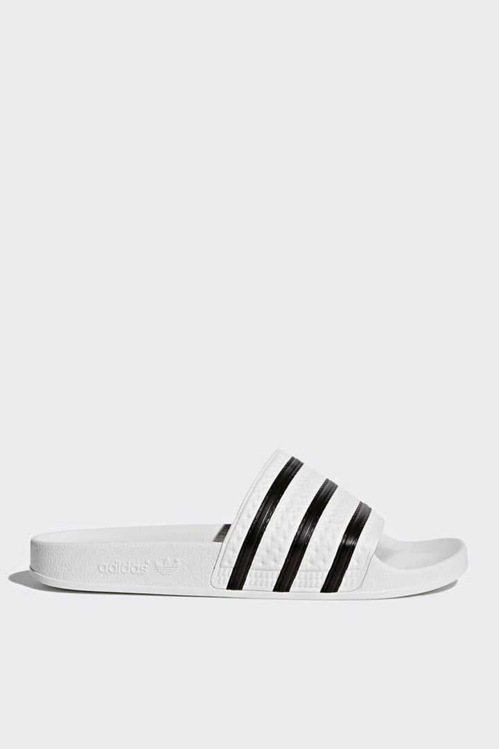 Adidas Originals Adilette - white/black/white | GOOD AS GOLD | NZ