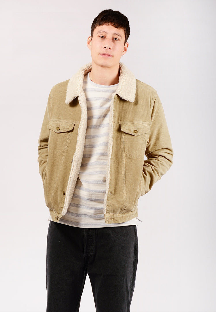 Rollas Denim Sherpa Jacket - camel cord | GOOD AS GOLD | NZ