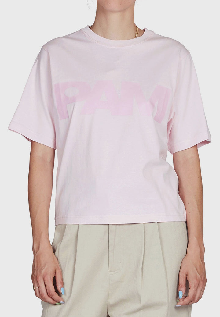 S Loops Logo T-Shirt - pale pink