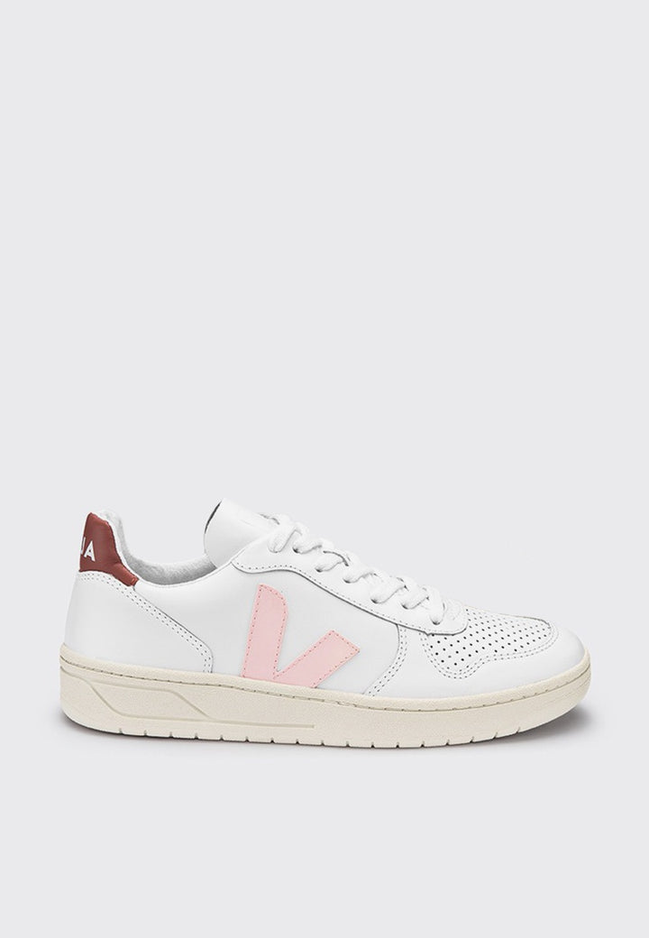 Veja V10 Leather - extra white/dried petal - Good As Gold