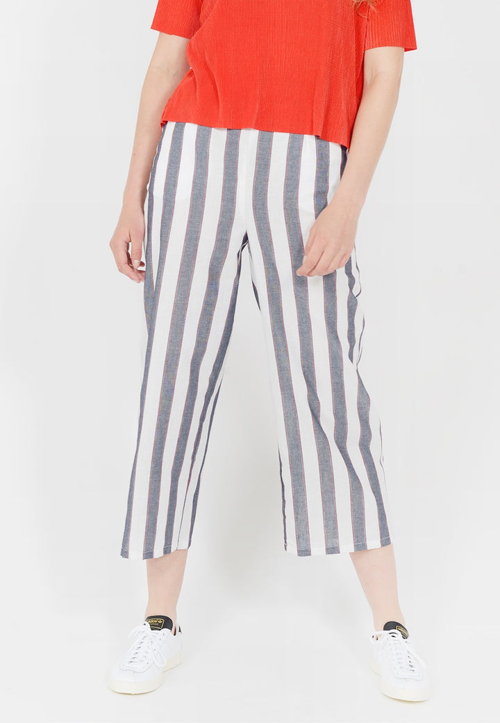 The Fifth Sequence Stripe pant - navy/ivory — Good as Gold