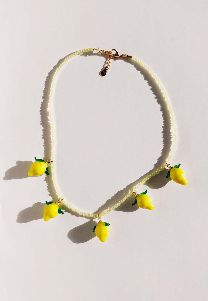 Lemoncello Necklace - pearl/gold