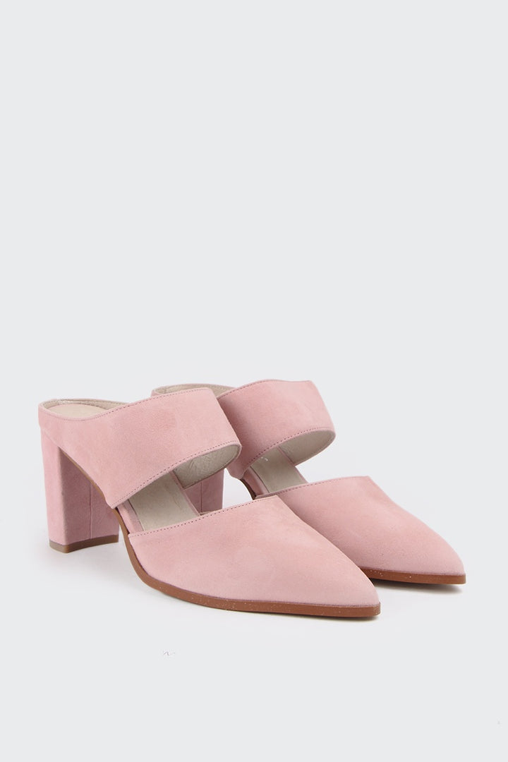 Intentionally Blank Missy Heel - pink suede | GOOD AS GOLD | NZ