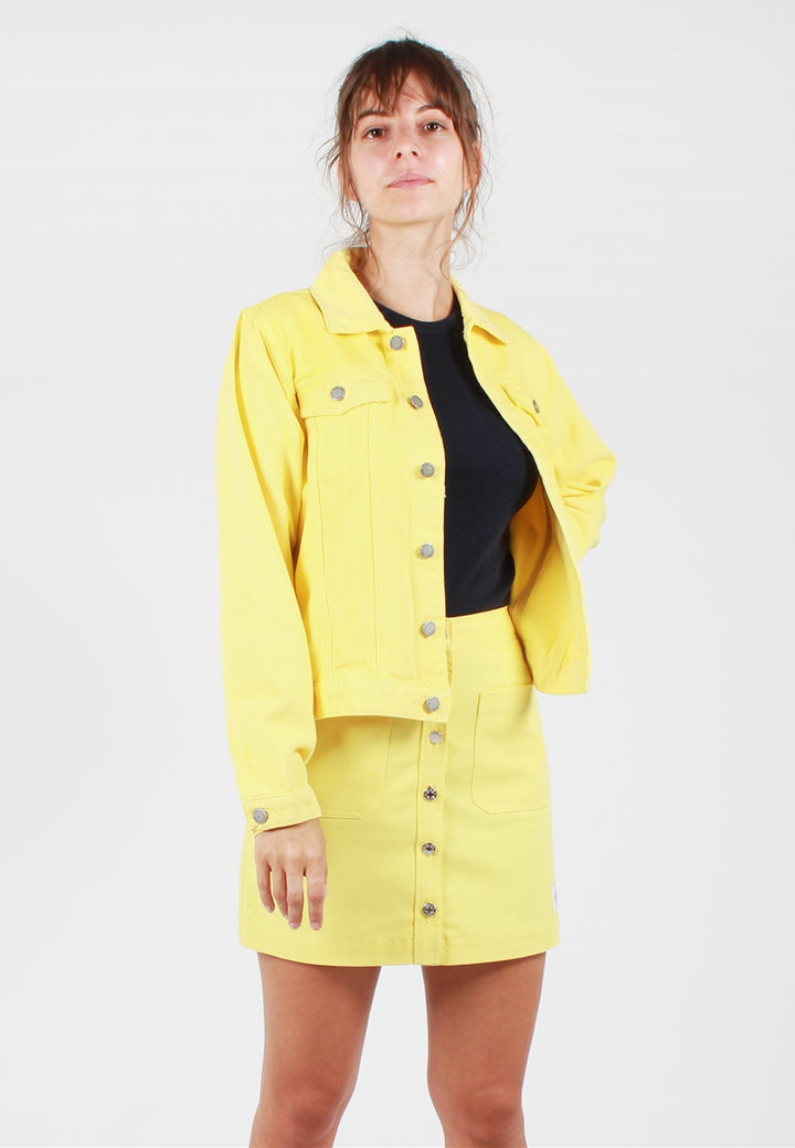 The Fifth Lilian Denim Jacket - lemon - Good As Gold