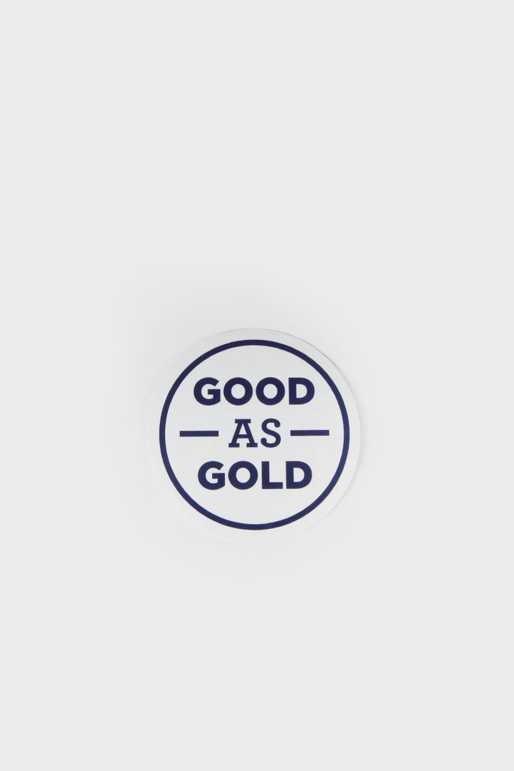 Good As Gold Logo Sticker | GOOD AS GOLD | NZ