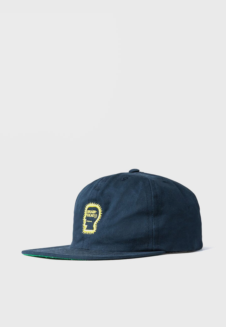 Brain Dead Logo Cap - navy - Good As Gold