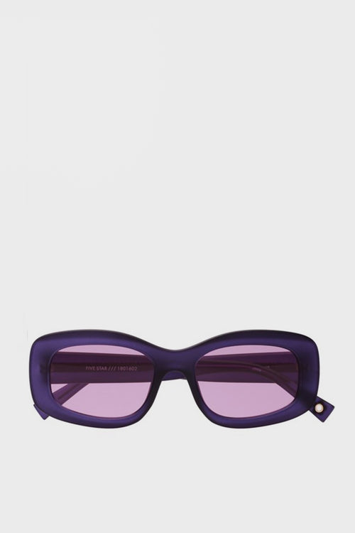 X Double Rainbouu Five Star Sunglasses - matte violet