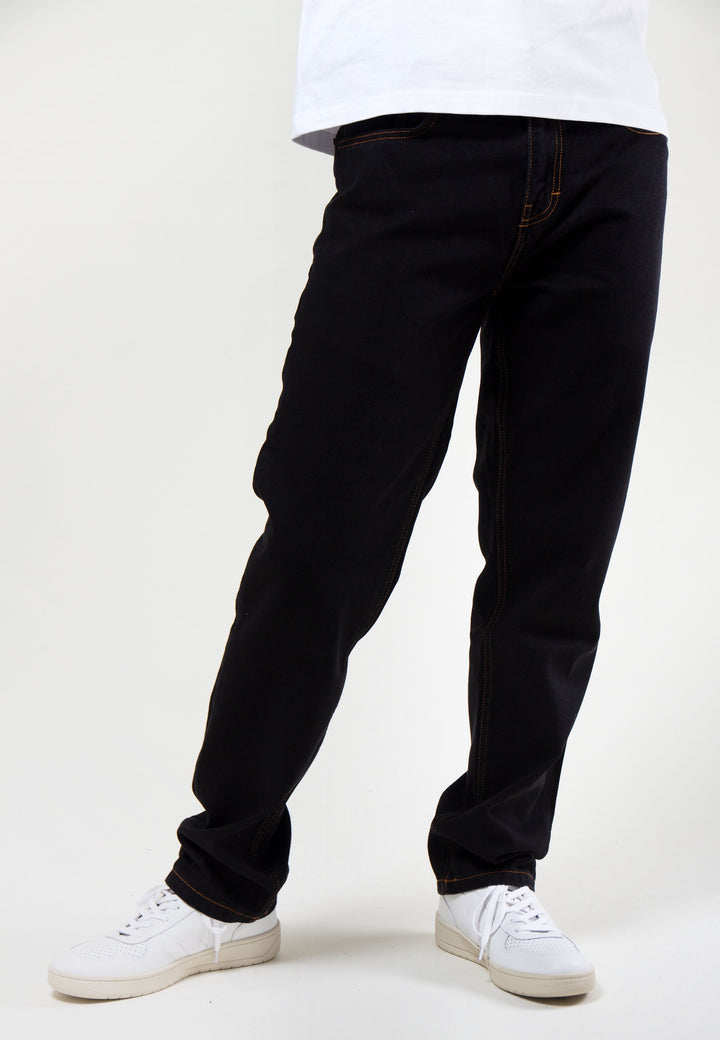 Straight Leg 12.5oz - black wash denim