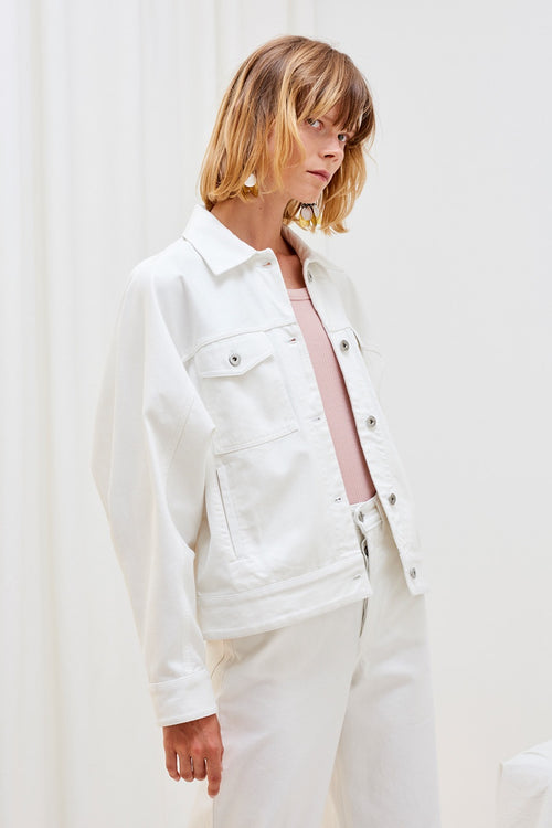 Kowtow Formation Jacket - ecru denim | GOOD AS GOLD | NZ