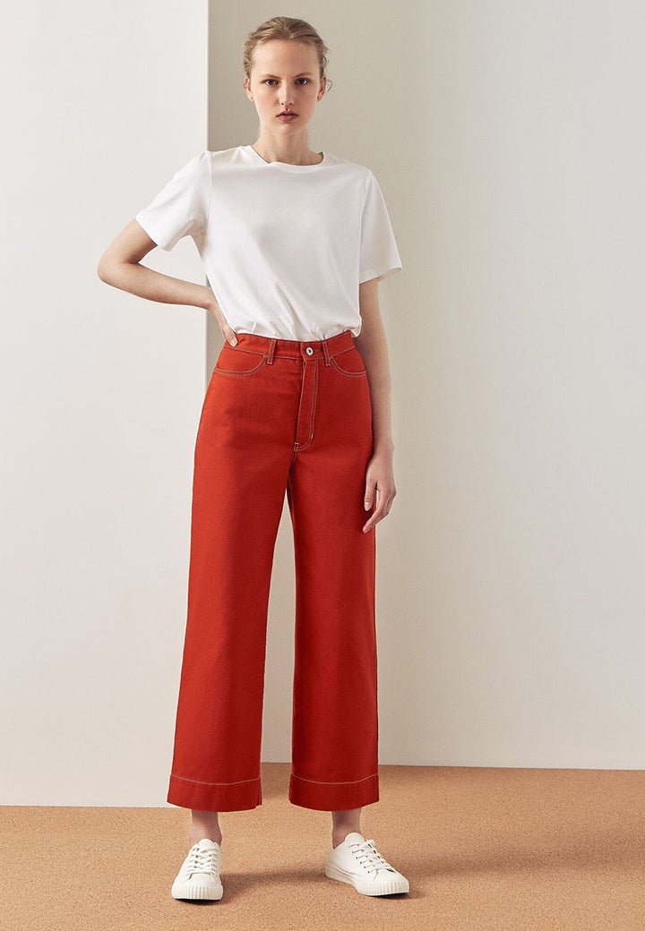 Kowtow Stage Pant - brick denim — Good as Gold