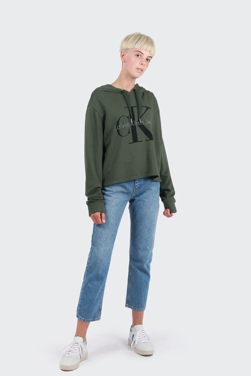 Calvin Klein Colour Pop Hoodie - greener pastures | GOOD AS GOLD | NZ