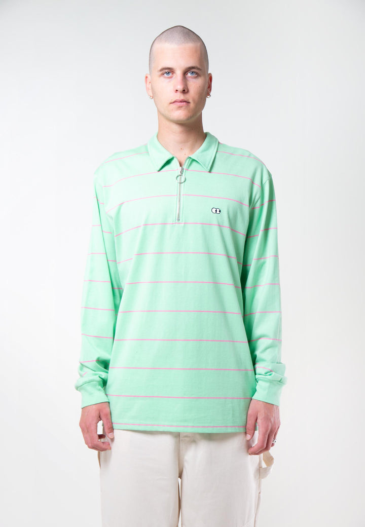 Eyes On You Stripe Jersey - green
