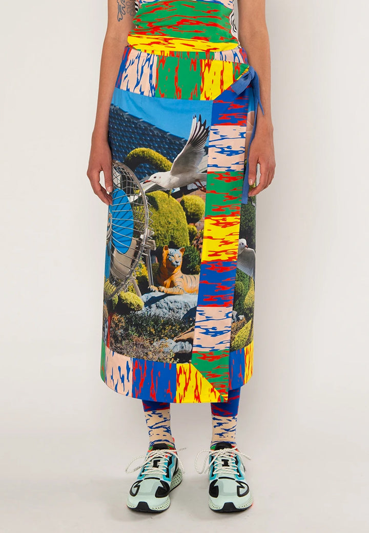 Sarong Style Skirt - house in sunshine