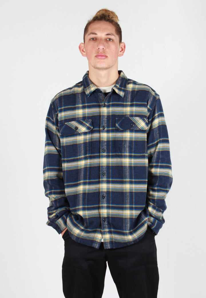 Patagonia Fjord Flannel Shirt - navy plaid - Good As Gold