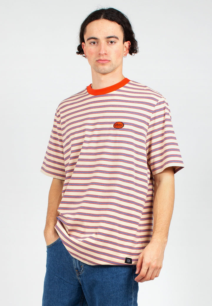 Lazy Oaf | Retro Mini Stripe T-Shirt - multi | Good As Gold, NZ