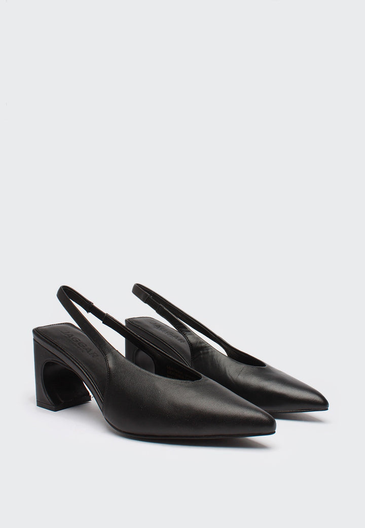 Jagger Sculpted Pump - black — Good as Gold