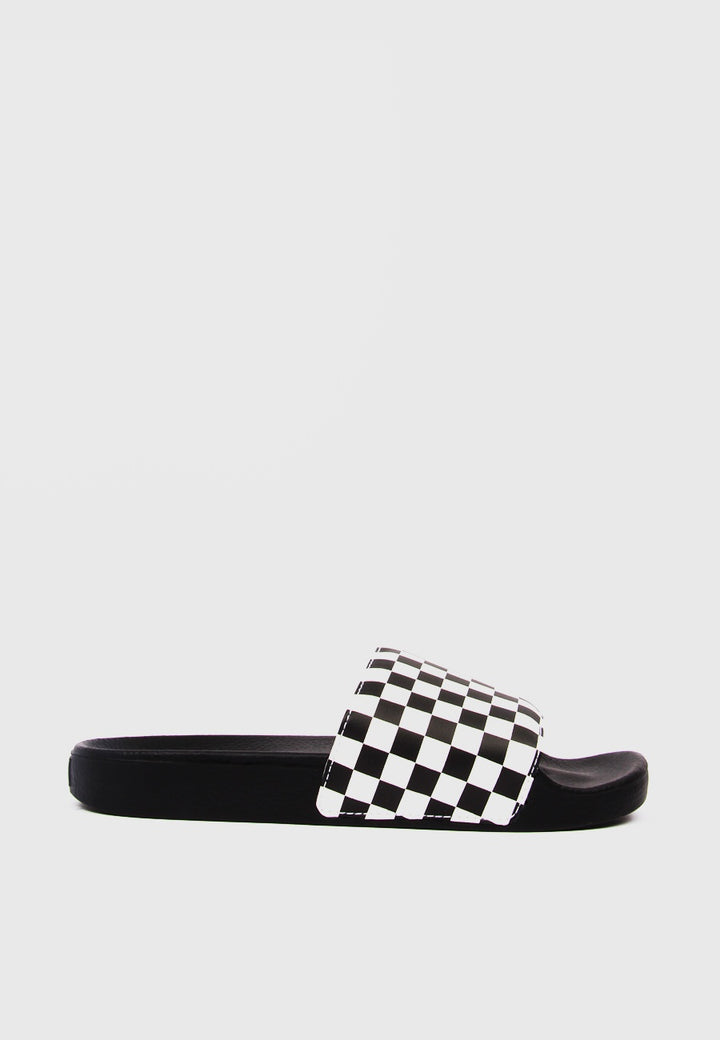 Slide On Checkerboard - black/white