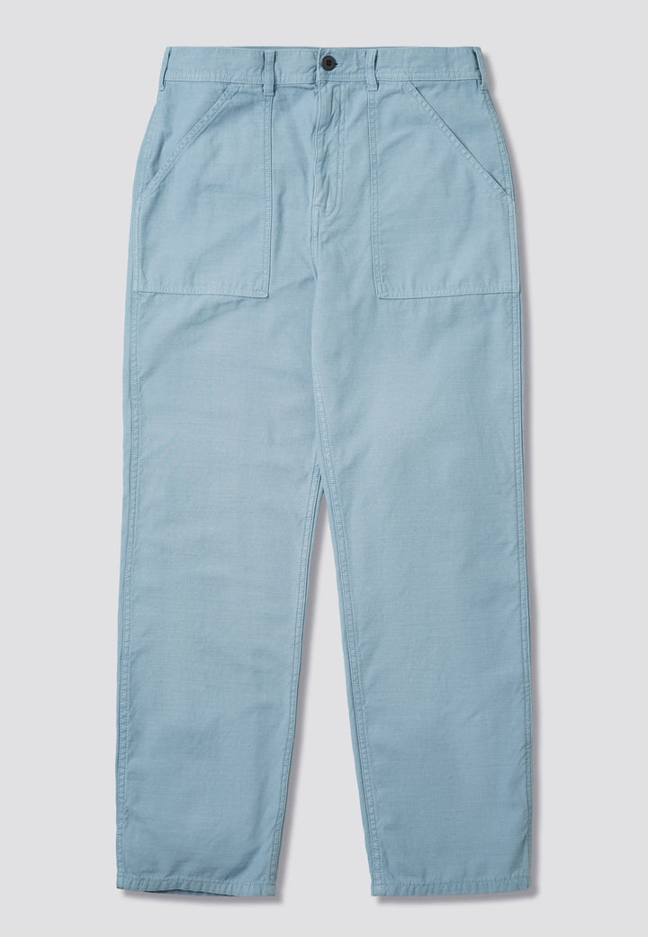 Fat Pant - grey/blue sateen