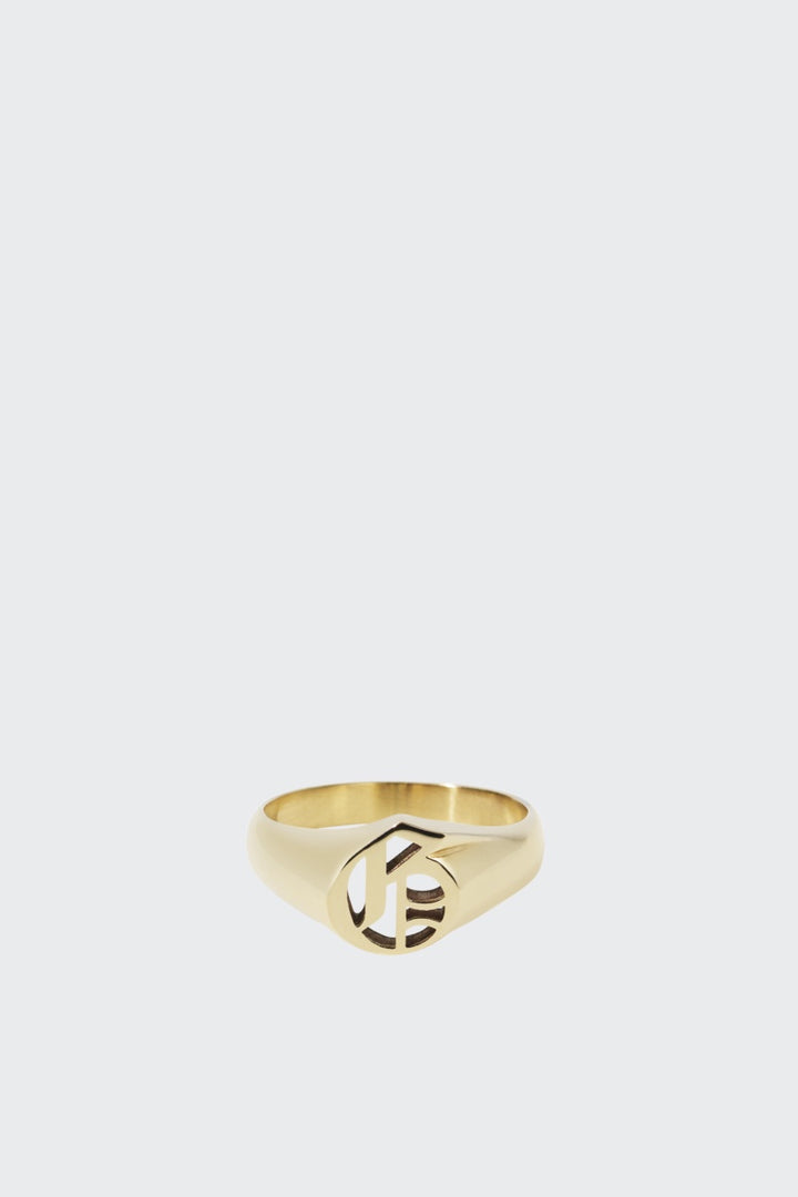 Meadowlark Capital Letter Signet Ring - gold G | GOOD AS GOLD | NZ