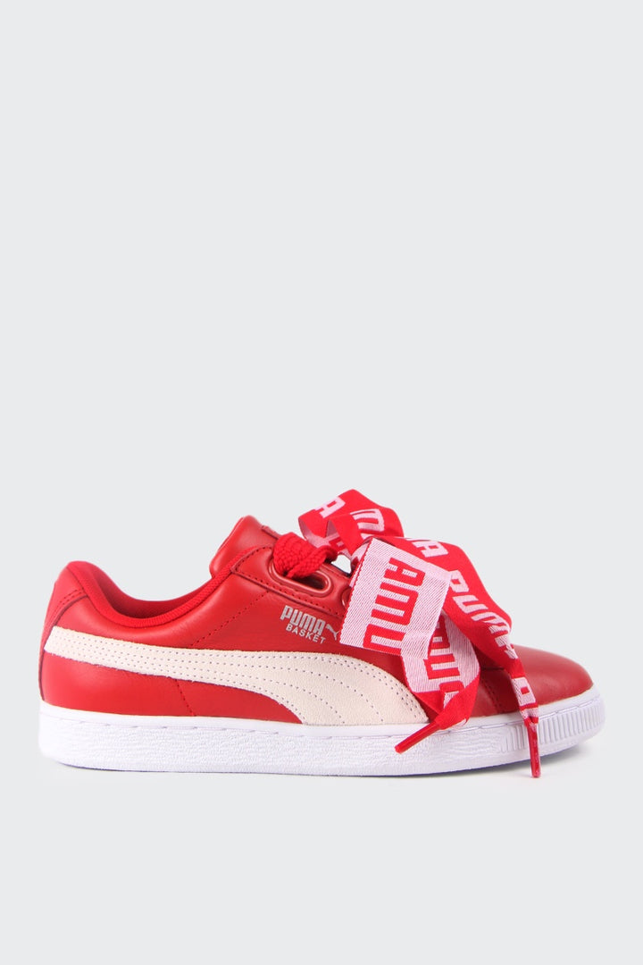 Puma Womens Basket Heart DE - toreador/white | GOOD AS GOLD | NZ