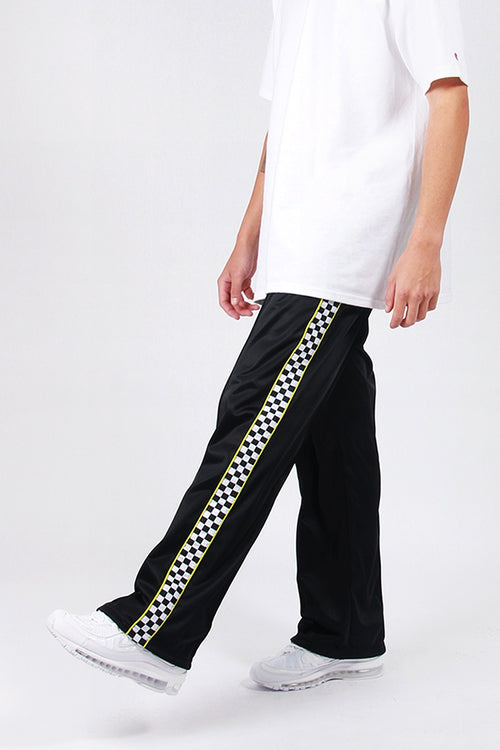 Lazy Oaf Check Track Pants - black | GOOD AS GOLD | NZ