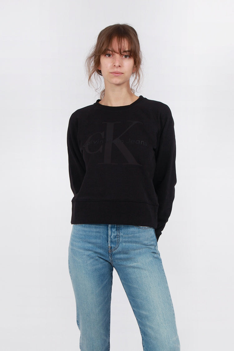 Calvin Klein Bonded Logo Sweater - black | GOOD AS GOLD | NZ