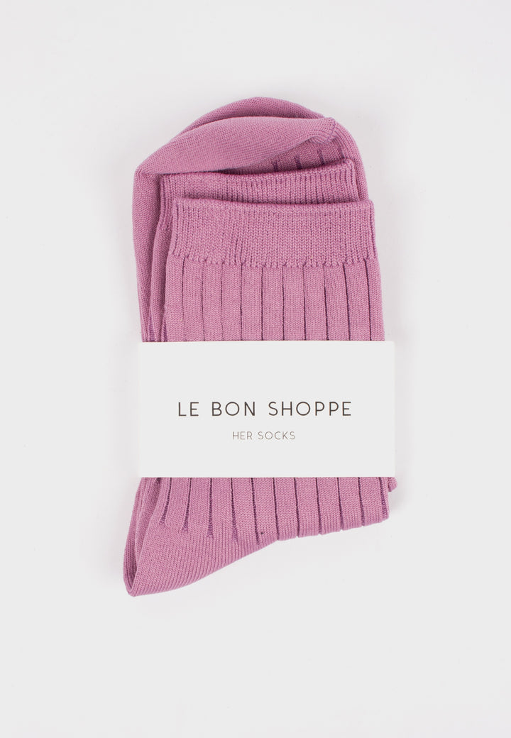 Le Bon Shoppe | Her Socks Solid - Orchid | Good As Gold, NZ