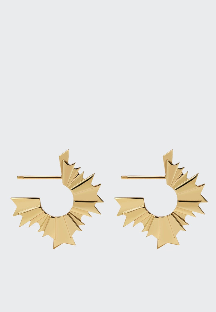 Meadowlark August Hoop Earrings - gold — Good as Gold