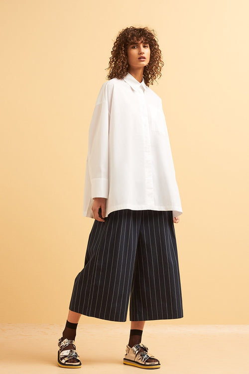 Kowtow Casting Pant - pinstripe | GOOD AS GOLD | NZ