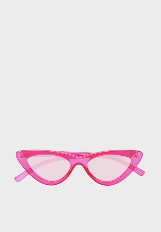 Le Specs X Adam Selman The Last Lolita Sunglasses - crystal hot pink - Good As Gold