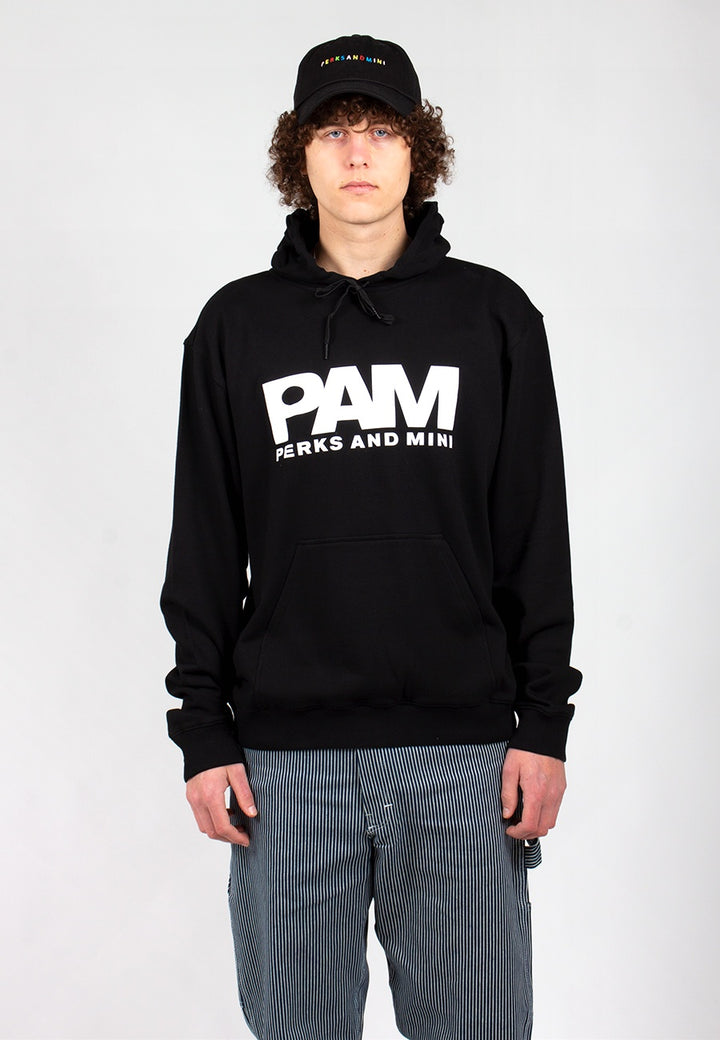 B.T.C Logo Hooded Sweat - black