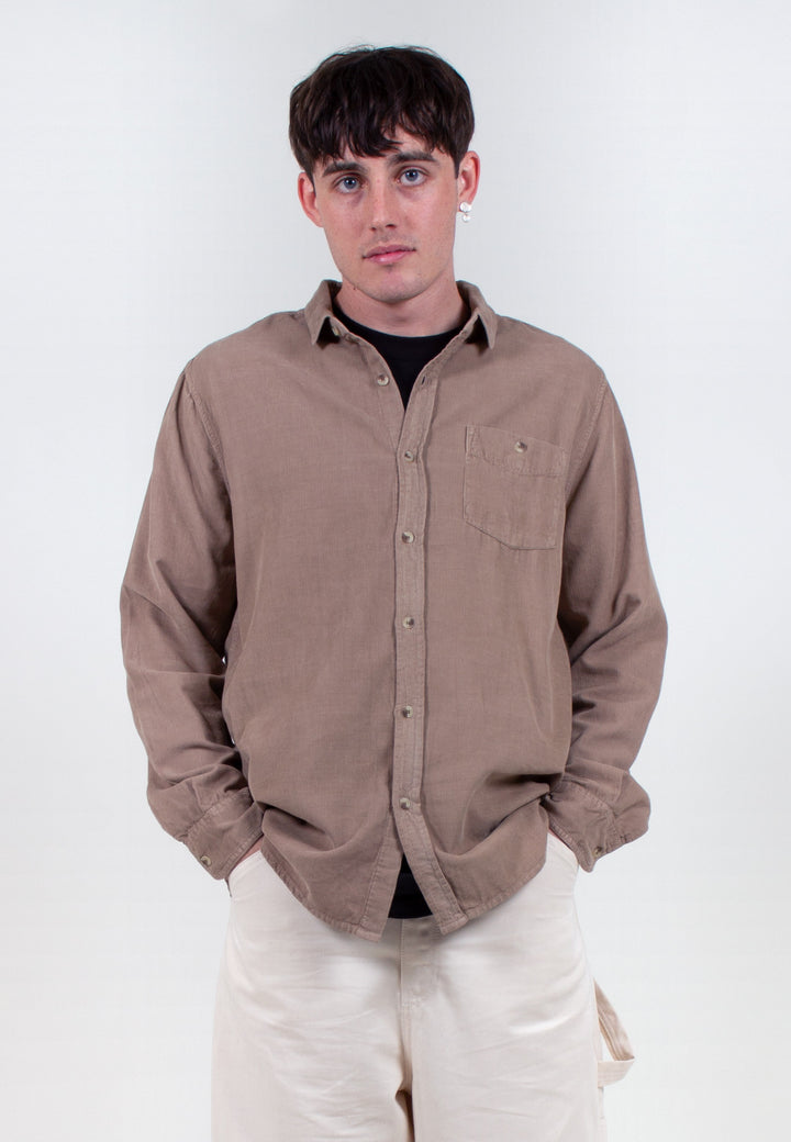 Men At Work Cord Shirt - camel