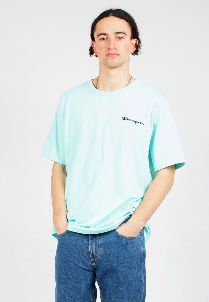 Champion | Script Logo Heritage T-Shirt - waterfall green
