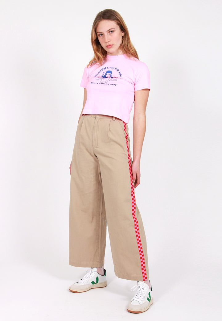 Wide Leg Cargo Pants - beige