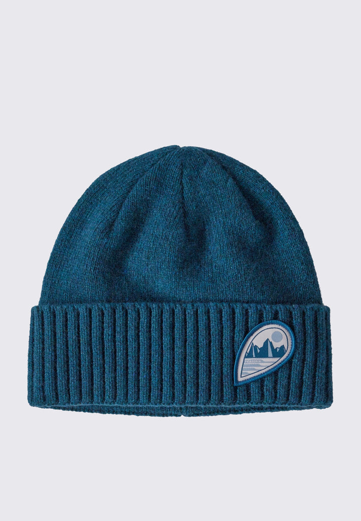 Brodeo Beanie - tube view/crater blue