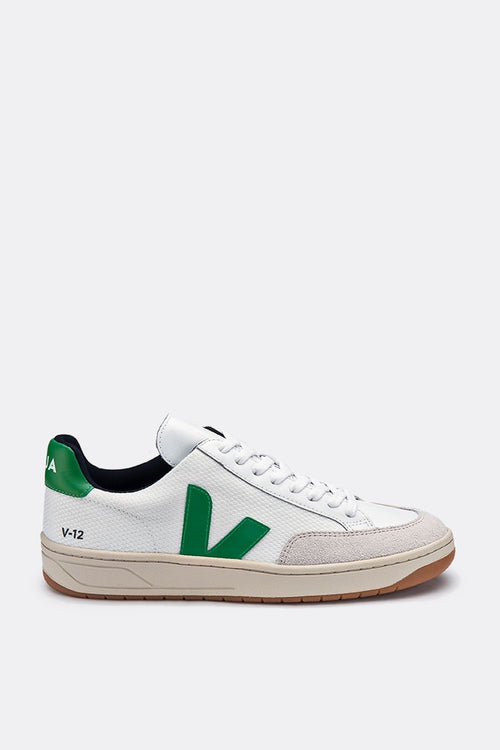 Veja V12 BMesh - white/emerald – Good as Gold