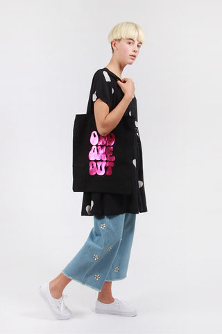 Lazy Oaf Odd One Out Tote Bag - black | GOOD AS GOLD | NZ