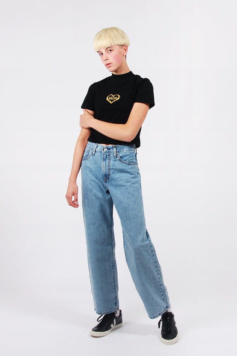 Lazy Oaf Vain T-Shirt - black | GOOD AS GOLD | NZ