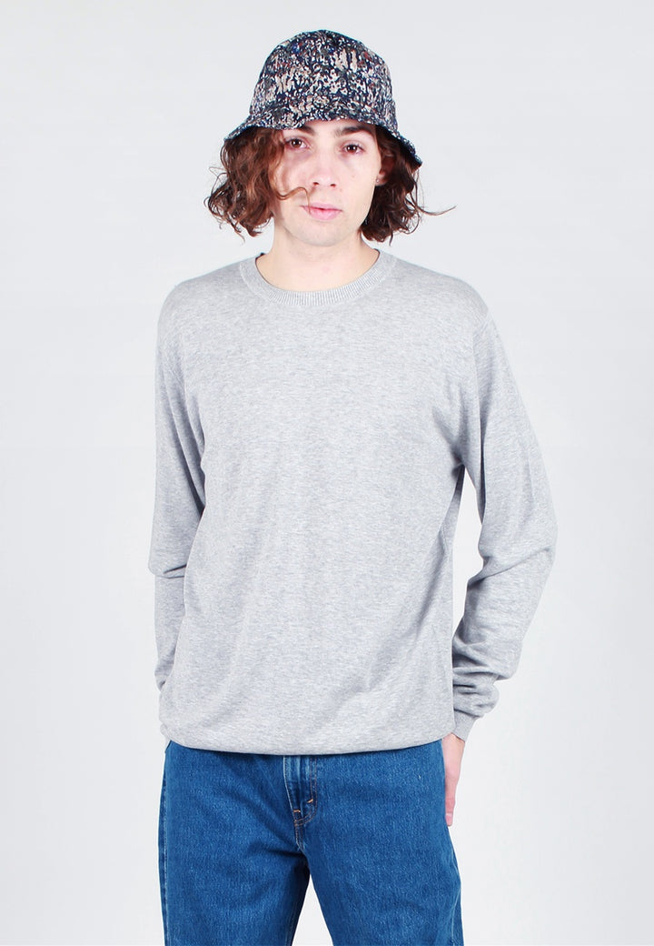 Norse Projects Sigfred Dry Cotton Knit Sweater - light grey melange - Good As Gold