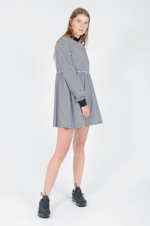 Lazy Oaf Sally Long Sleeve Dress - black/white — Good as Gold