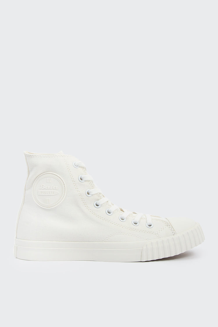 Bata Bullets High Cut Canvas - white | GOOD AS GOLD | NZ