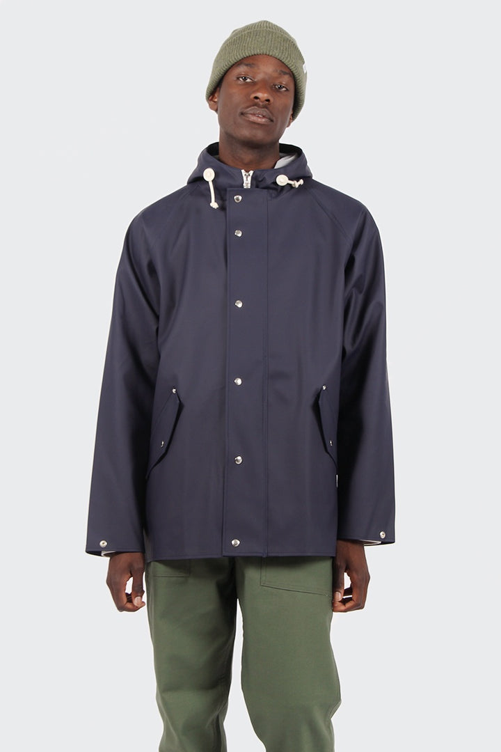 Norse Projects Anker Rain Coat - dark navy | GOOD AS GOLD | NZ