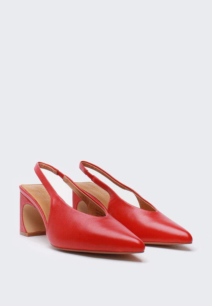 Jagger Sculpted Pump - chilli — Good as Gold