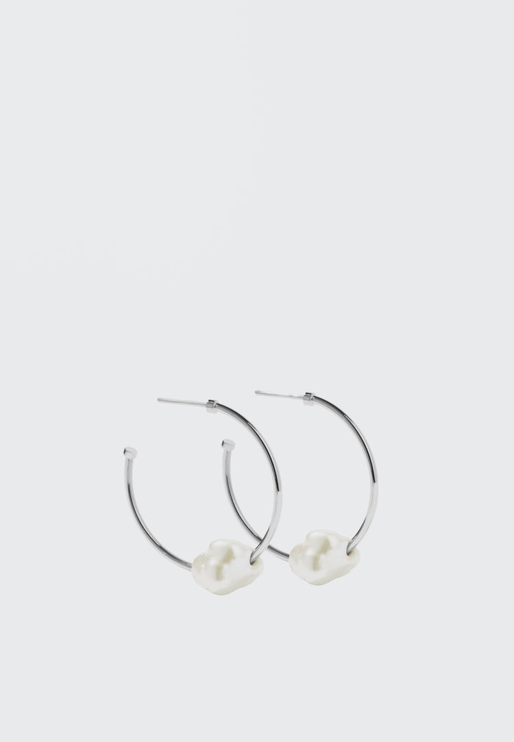 Meadowlark Baroque Hoop Earrings - silver - Good As Gold