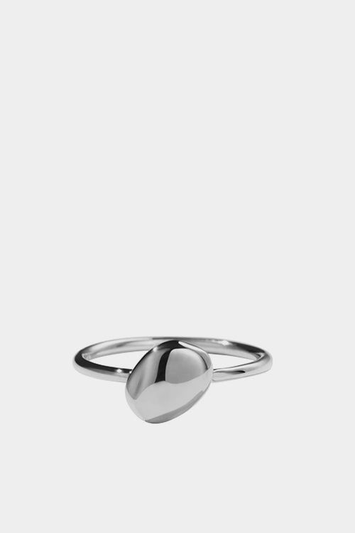 Meadowlark Pebble Stacker Ring - silver